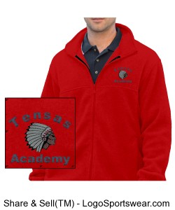 Men's Red Full-Zip Jacket with TA Logo Design Zoom