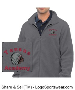 Men's Charcoal Full-Zip Jacket with TA Logo Design Zoom