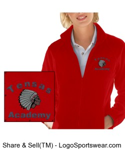 Ladies' Red Full-Zip Jacket with TA Logo Design Zoom