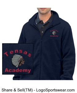 Men's Navy Full-Zip Jacket with TA Logo Design Zoom