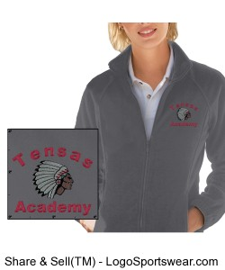 Ladies' Charcoal Full-Zip Jacket with TA Logo Design Zoom